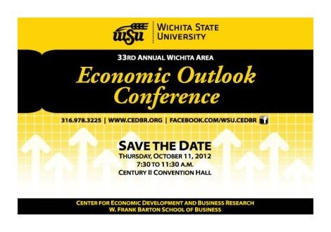Save the date image for the Wichita Area Economic Outlook Conference