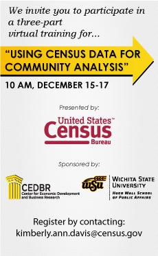 Census Bureau Webinar: Census Data for Community Analysis