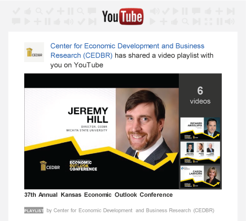 2016, 37th Annual Kansas Economic Outlook Conference Video Playlist